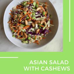 Asian cashew salad