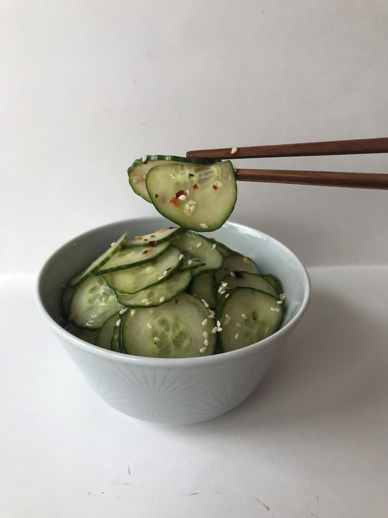 Low-Fodmap-Cucumber Salad