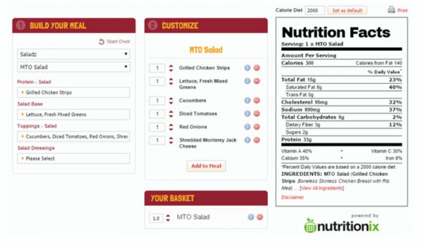 Wawa-Nutrition-Calculator