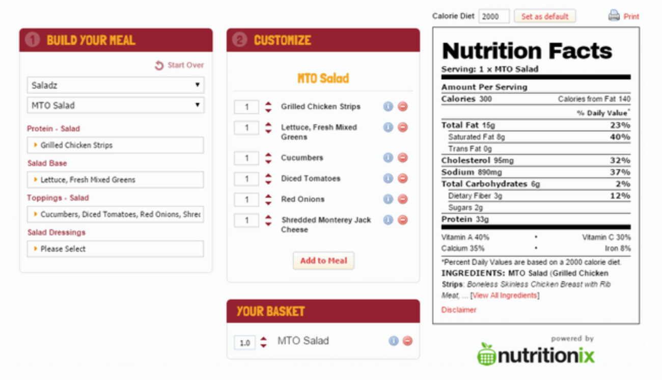 Wawa-Nutrition-Calculator