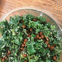 Vegan Crispy Chickpea Caesar Salad